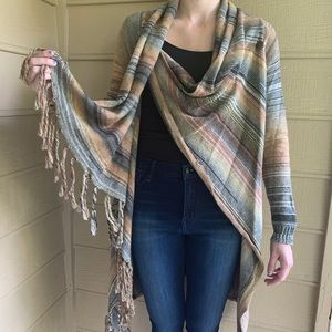 Love Stitch Cross Wrap Sweater New with tags